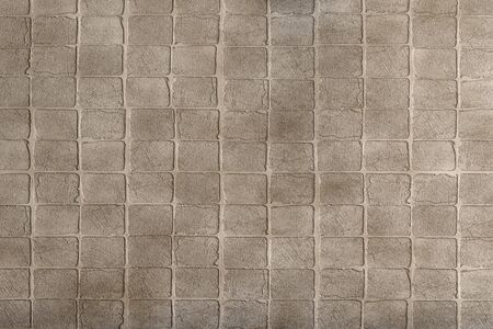 cobblestone: 3d rendering of a grey and brown brick wall Stock Photo