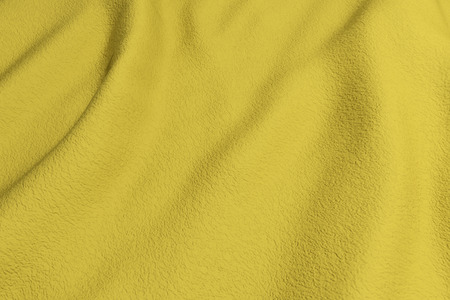 rippled: 3d rendering of a yellow rippled fabric.From above