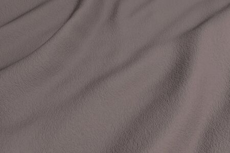 rippled: 3d rendering of a brown rippled fabric.From above
