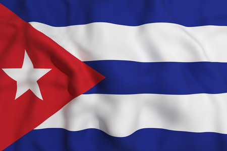 oppression: 3d rendering of a Cuba flag waving
