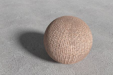 wattled: 3d rendering of a close-up of three-dimensional wattled sphere.