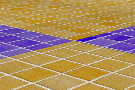 glazed: 3d rendering of a close-up of yellow and blue ceramic glazed tile floor