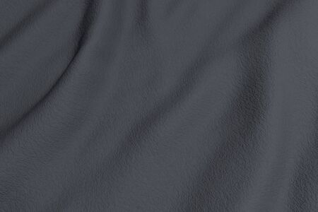 rippled: 3d rendering of a grey rippled fabric.From above