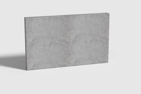 casting: 3d rendering of a grey wall casting shadow on white surface