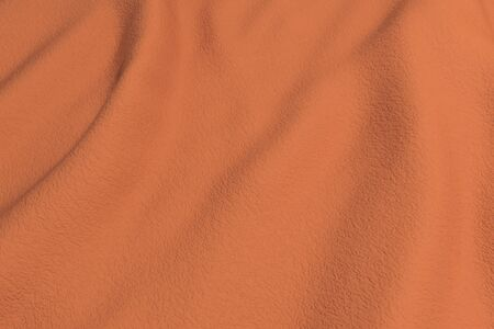 rippled: 3d rendering of an orange rippled fabric.From above Stock Photo