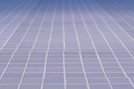 glazed: 3d rendering of a close-up of blue ceramic glazed tile. Stock Photo