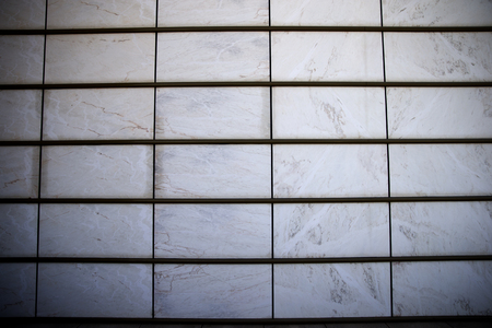 aerated: Close-up of hinged aerated facade made of marble