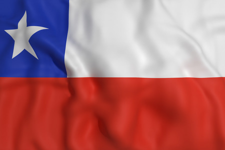 chile flag: 3d rendering of a Chile flag waving