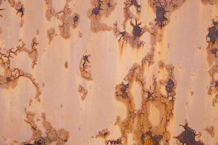 damaged: Rusty metal damaged wall