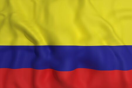 colombia flag: 3d rendering of a colombia flag waving Stock Photo