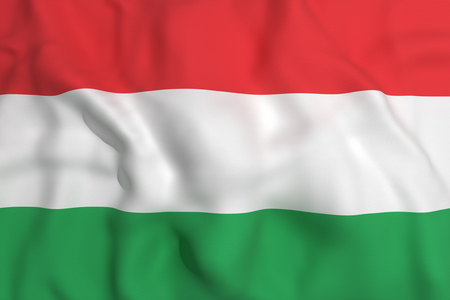 hungary: 3d rendering of a Hungary flag waving Stock Photo