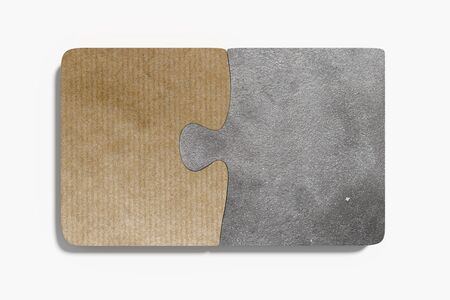 materials: 3d rendering of pieces of puzzle made of materials