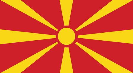europe closeup: Illustration of a close-up of a Macedonia flag