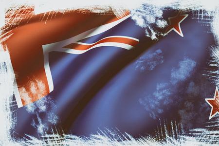 bandera de nueva zelanda: 3d prestaci�n de una bandera ondeando Nueva Zelanda