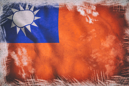 taiwanese: 3d rendering of an old Taiwan flag