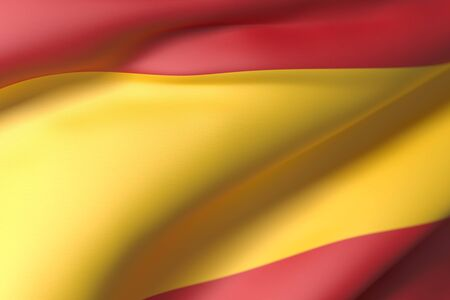 national geographic: 3d rendering of Spain flag waving Stock Photo