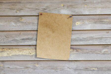 wooden plank: 3d rendering of an empty sheet pinned on wooden plank
