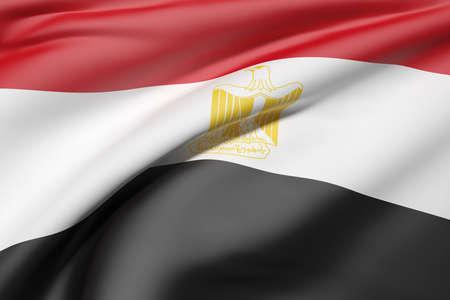 bandera egipto: Las 3D de la bandera de Egipto que agita