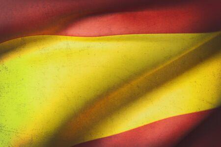 iberian: 3d rendering of Spain flag waving Stock Photo