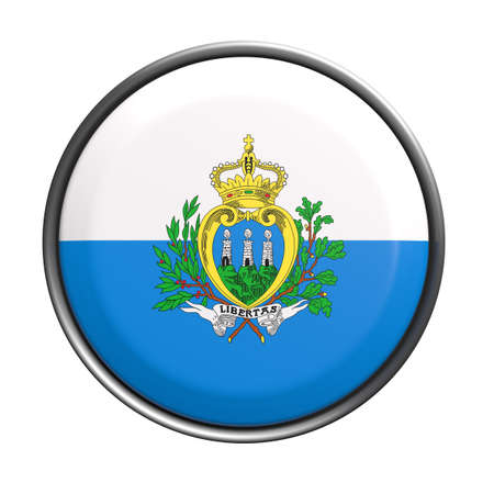 europe closeup: 3d rendering of San Marino button on white background.