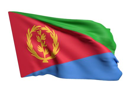 eritrea: 3d rendering of Eritrea flag waving