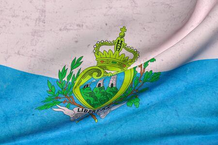 national geographic: 3d rendering of San Marino flag waving Stock Photo