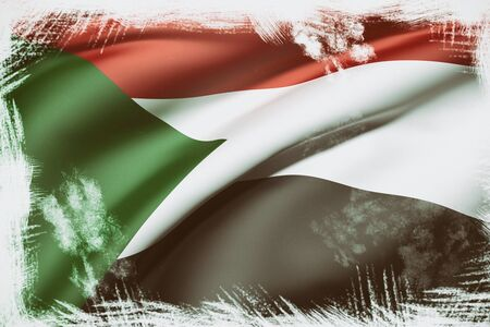 Sudan: 3d rendering of Sudan flag waving Stock Photo
