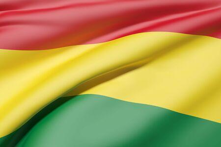 bandera de bolivia: Las 3D de la bandera de Bolivia que agita Foto de archivo