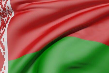 3d rendering of Belarus flag waving