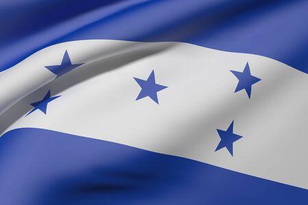 bandera honduras: Las 3D de la bandera de Honduras que agita