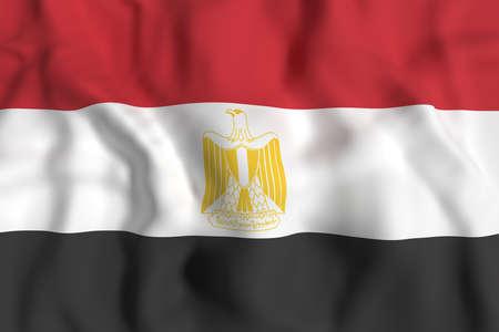 bandera de egipto: Las 3D de la bandera de Egipto que agita