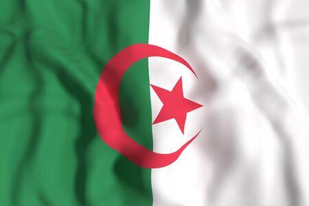 3d rendering of Algeria flag waving
