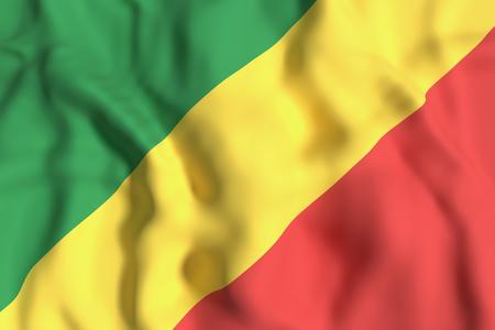 3d rendering of Republic of Congo flag waving
