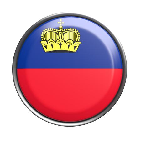 liechtenstein: 3d rendering of Liechtenstein button on white background.