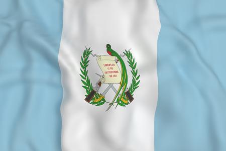 bandera de guatemala: Las 3D de la bandera de Guatemala ondeando