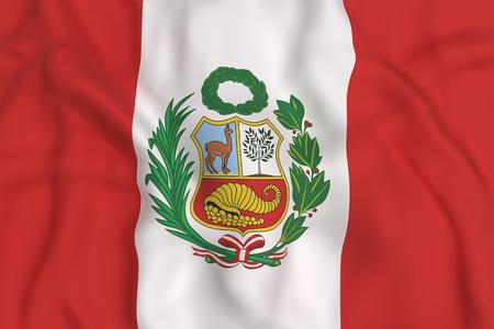 bandera de peru: representación 3D de la bandera de República de Perú agitando