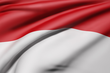 3d rendering of Republic of Indonesia flag waving Stock Photo