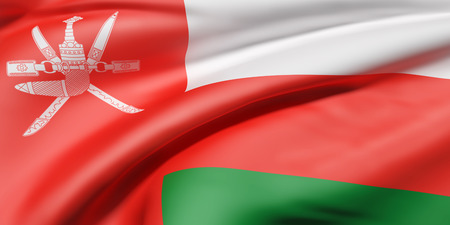 3d rendering of a Sultanate of Oman flag waving