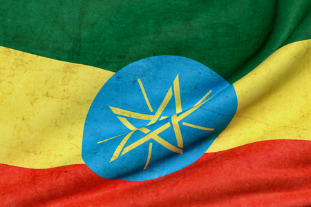 national flag ethiopia: 3d rendering of Ethiopia flag waving Stock Photo