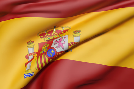 3d rendering of Spain flag waving Stock Photo