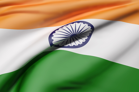 3d rendering of Republic of India flag waving Stock Photo