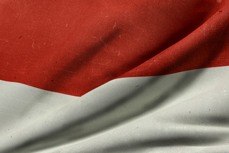 3d rendering of an old Republic of Indonesia flag waving Stock Photo