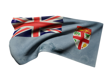 3d rendering of an old Republic of Fiji flag waving
