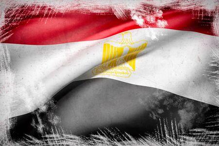 bandera egipto: 3d rendering of Egypt flag waving
