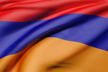 3d rendering of Republic of Armenia flag waving