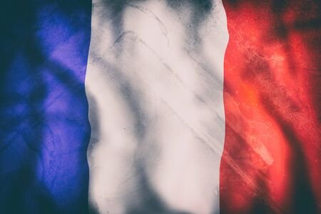 national geographic: 3d rendering of an old France flag waving Stock Photo