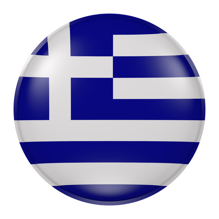 hellenic: 3d rendering of Greece flag on a button