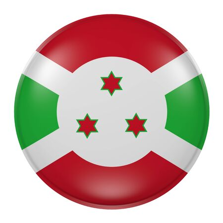 3d rendering of a Burundi flag on a button