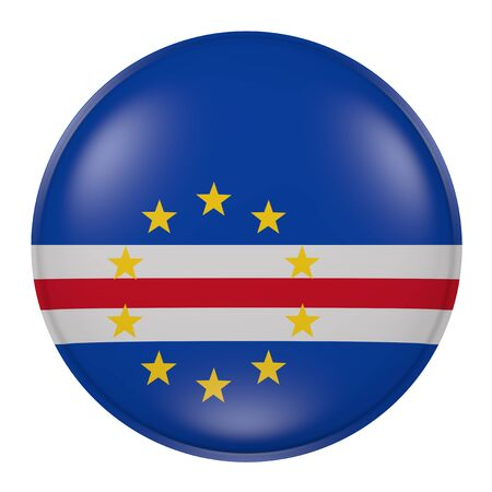 3d rendering of a Cape Verde flag on a button