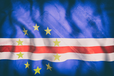 3d rendering of an old Republic of Cape Verde flag waving